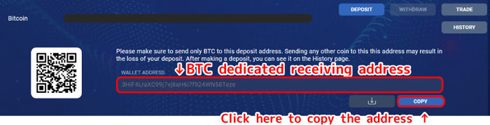BTC-dedicated-receiving-address