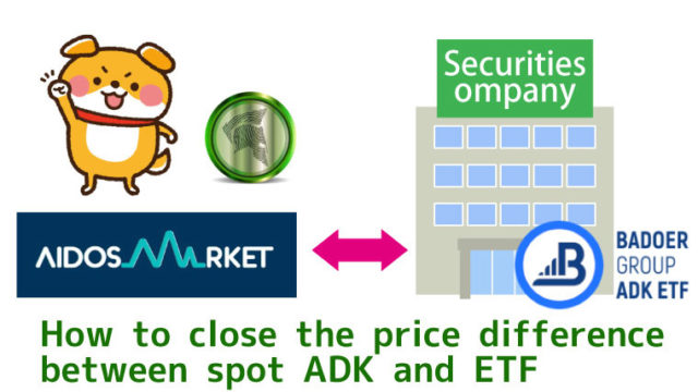 How to close the price difference between spot ADK and ETF