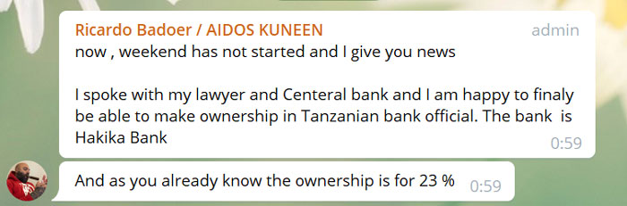 "the name ""Hakika Microfinance Bank"" in Tanzania"
